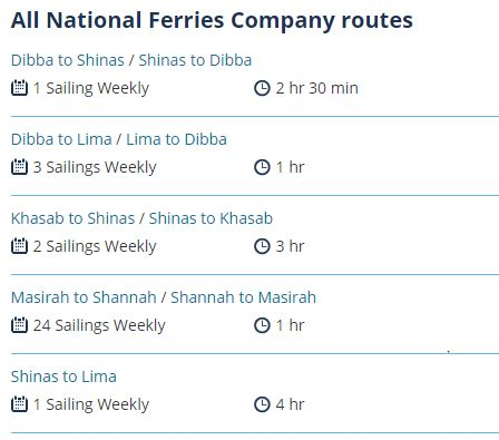 SHINAS TO KHASAB FERRY