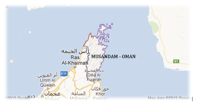 Khasab Map
